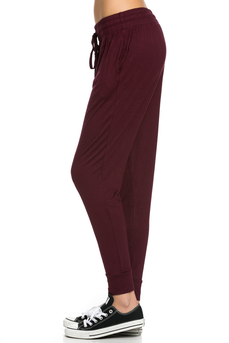 Lightweight Jogger Pants Burgundy - Jogger Pants - My Yuccie - 4