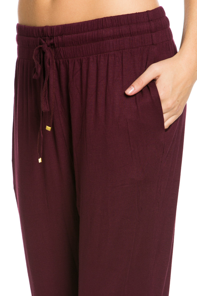 Lightweight Jogger Pants Burgundy - Jogger Pants - My Yuccie - 6