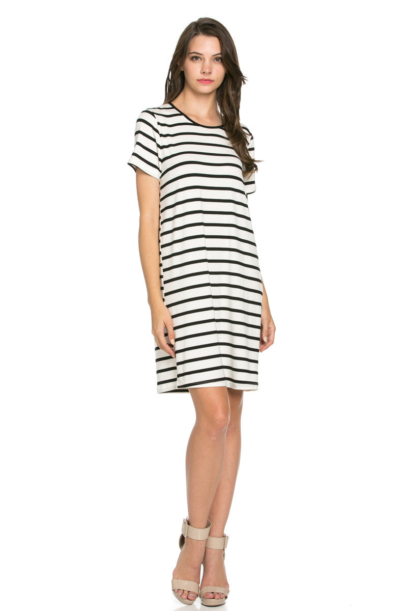All About Stripes Dress Black - Dresses - My Yuccie - 1