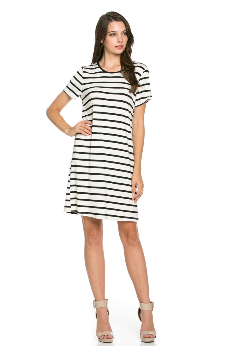 All About Stripes Dress Black - Dresses - My Yuccie - 2