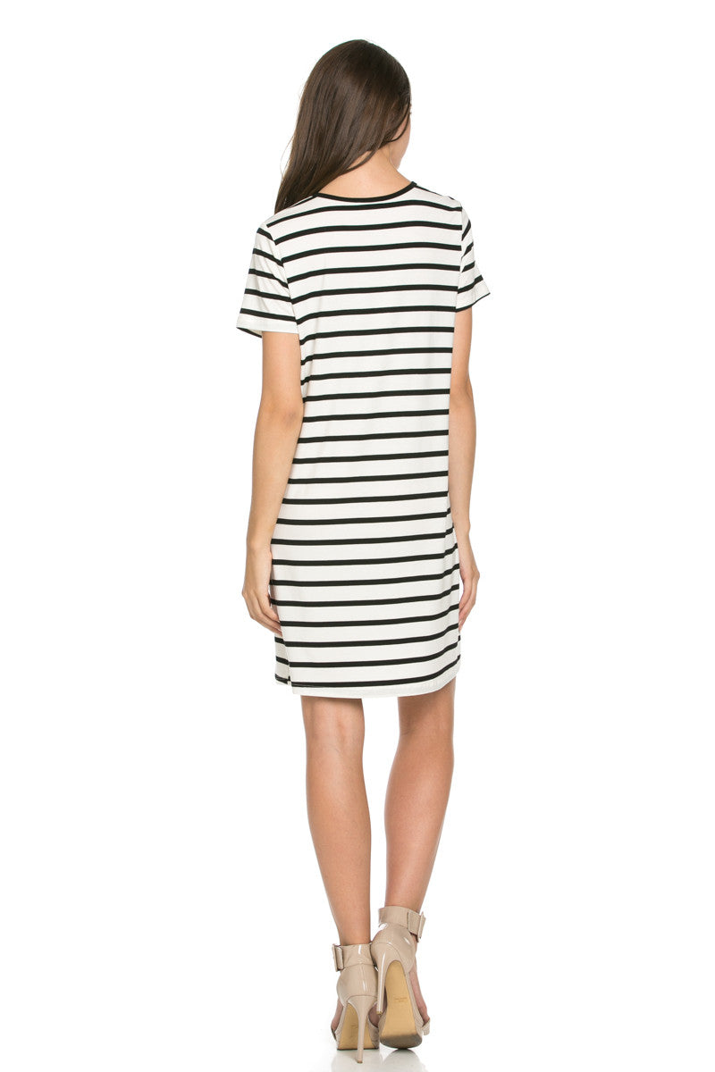All About Stripes Dress Black - Dresses - My Yuccie - 3