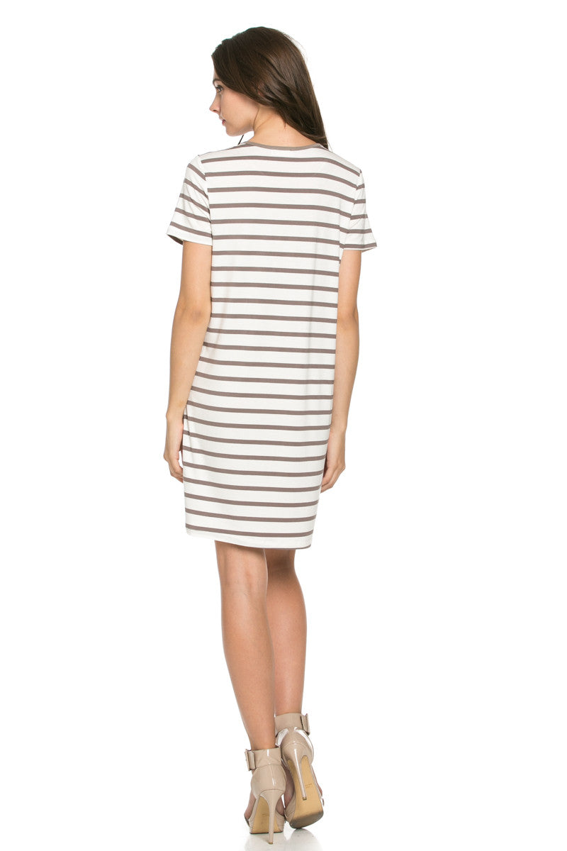 All About Stripes Dress Cocoa - Dresses - My Yuccie - 3