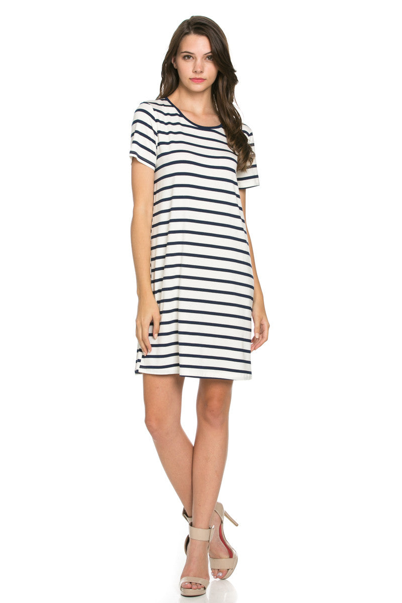 All About Stripes Dress Navy - Dresses - My Yuccie