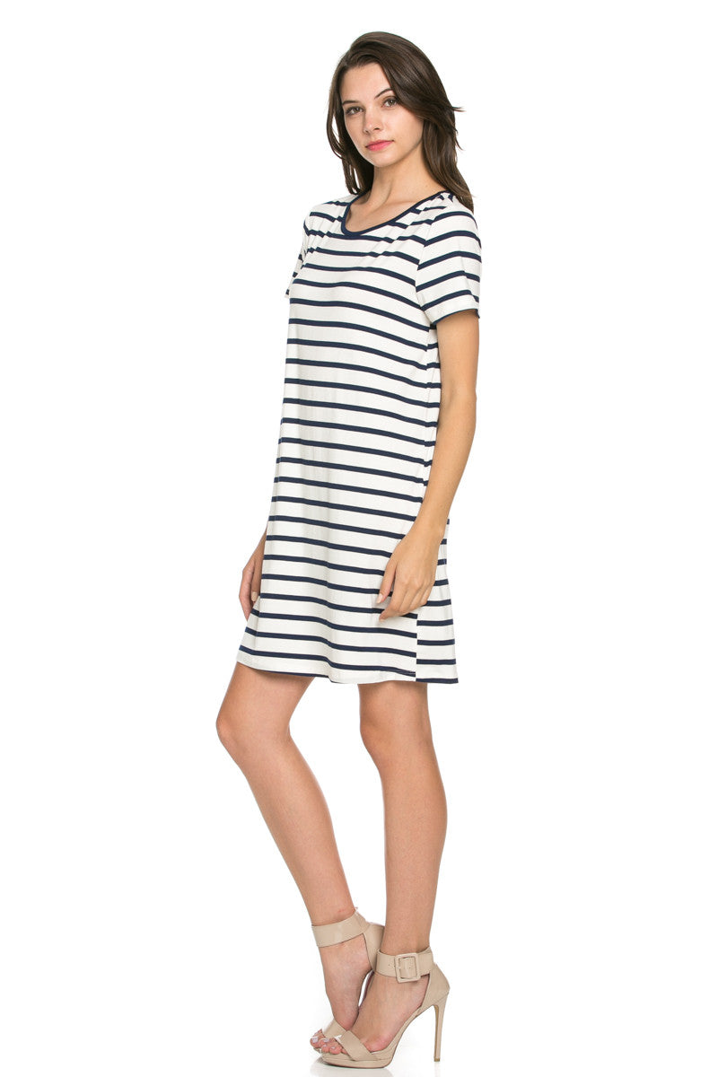 All About Stripes Dress Navy - Dresses - My Yuccie - 2