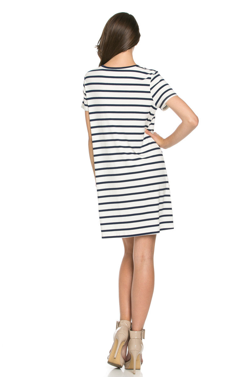 All About Stripes Dress Navy - Dresses - My Yuccie - 3