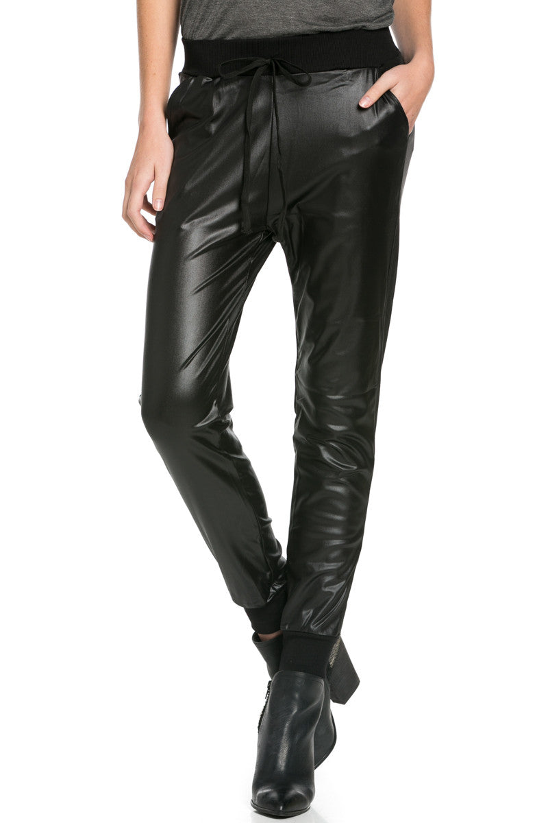 Pu Faux Leather Trouser Pants Black - Pants - My Yuccie - 3