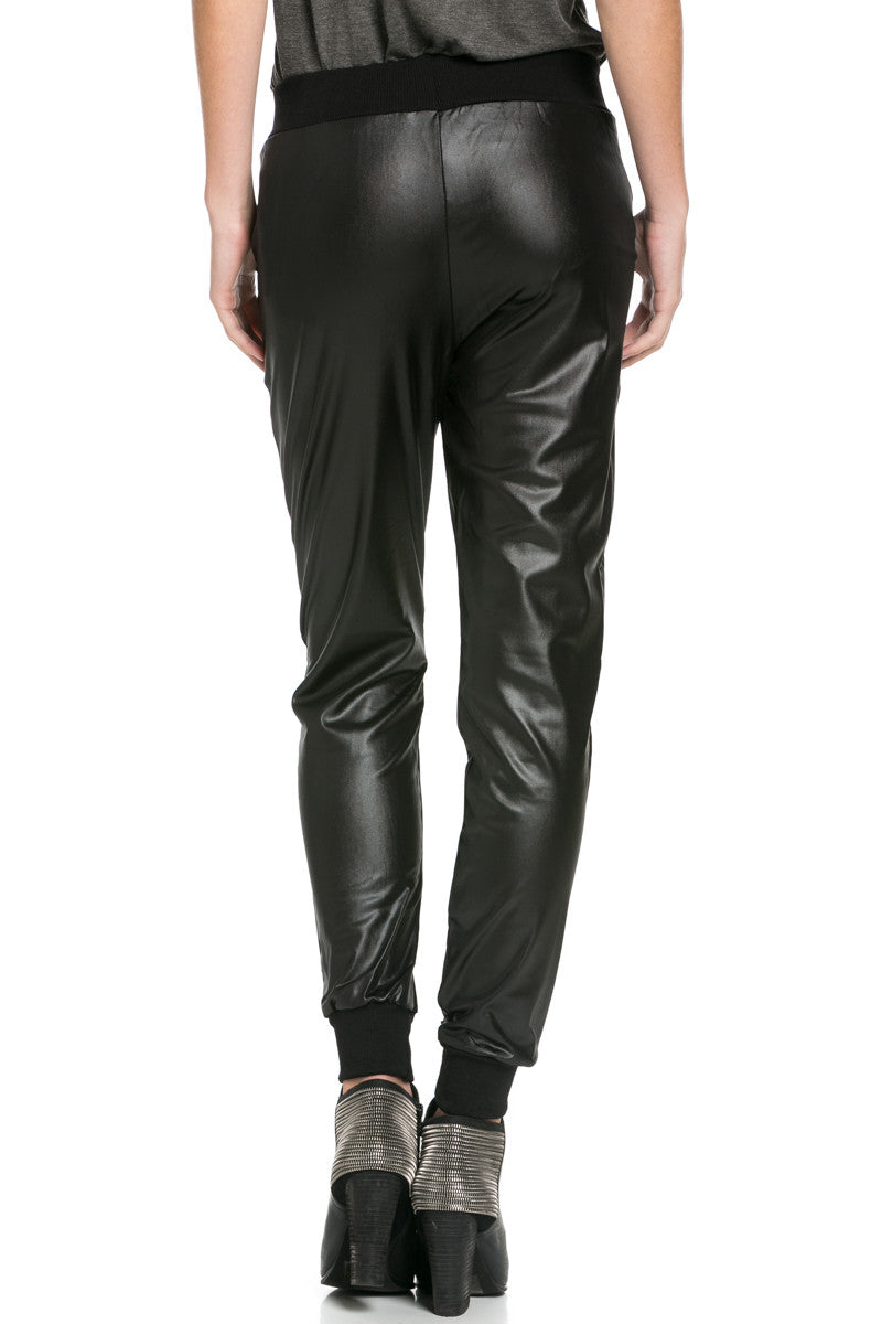 Pu Faux Leather Trouser Pants Black - Pants - My Yuccie - 6