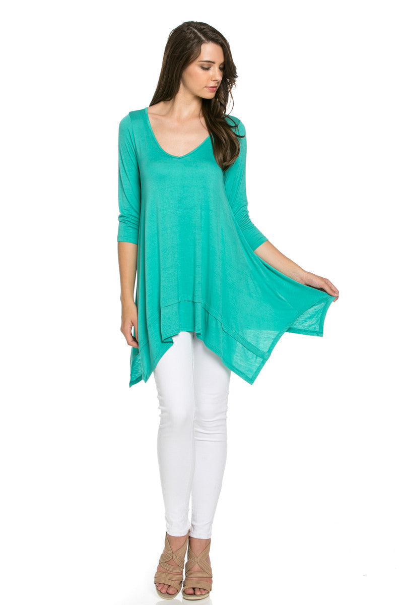 Classic Lightweight Knit Tunic Top Mint - Tunic - My Yuccie - 2