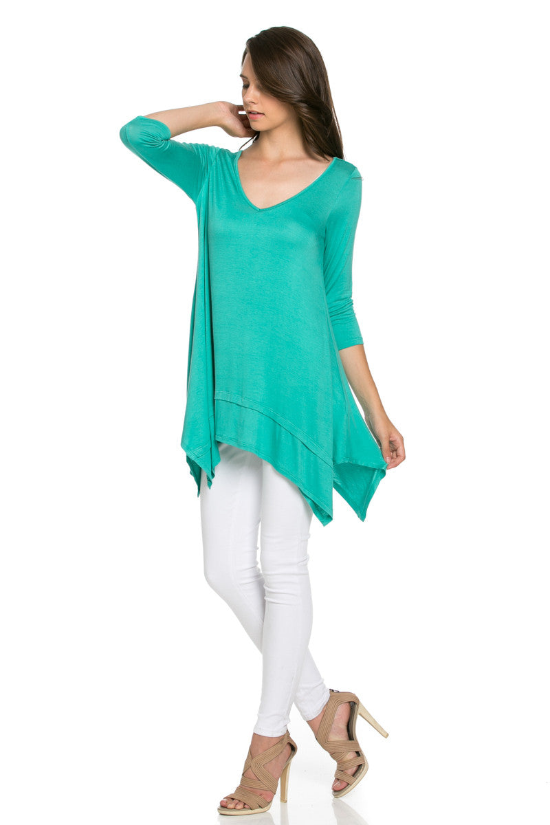 Classic Lightweight Knit Tunic Top Mint - Tunic - My Yuccie - 3