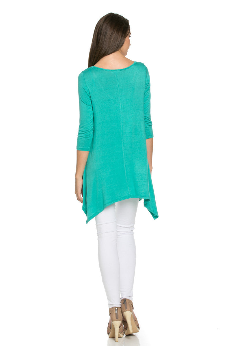 Classic Lightweight Knit Tunic Top Mint - Tunic - My Yuccie - 4