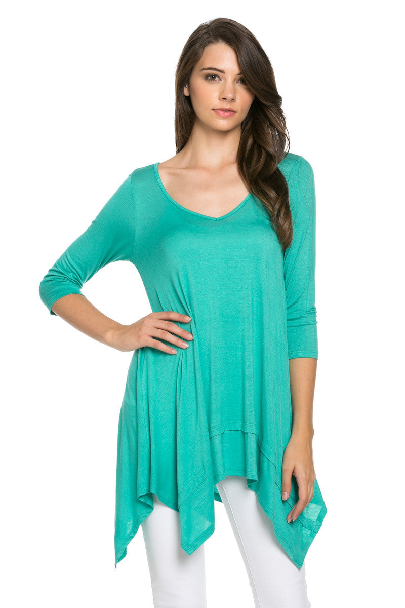 Classic Lightweight Knit Tunic Top Mint - Tunic - My Yuccie - 1