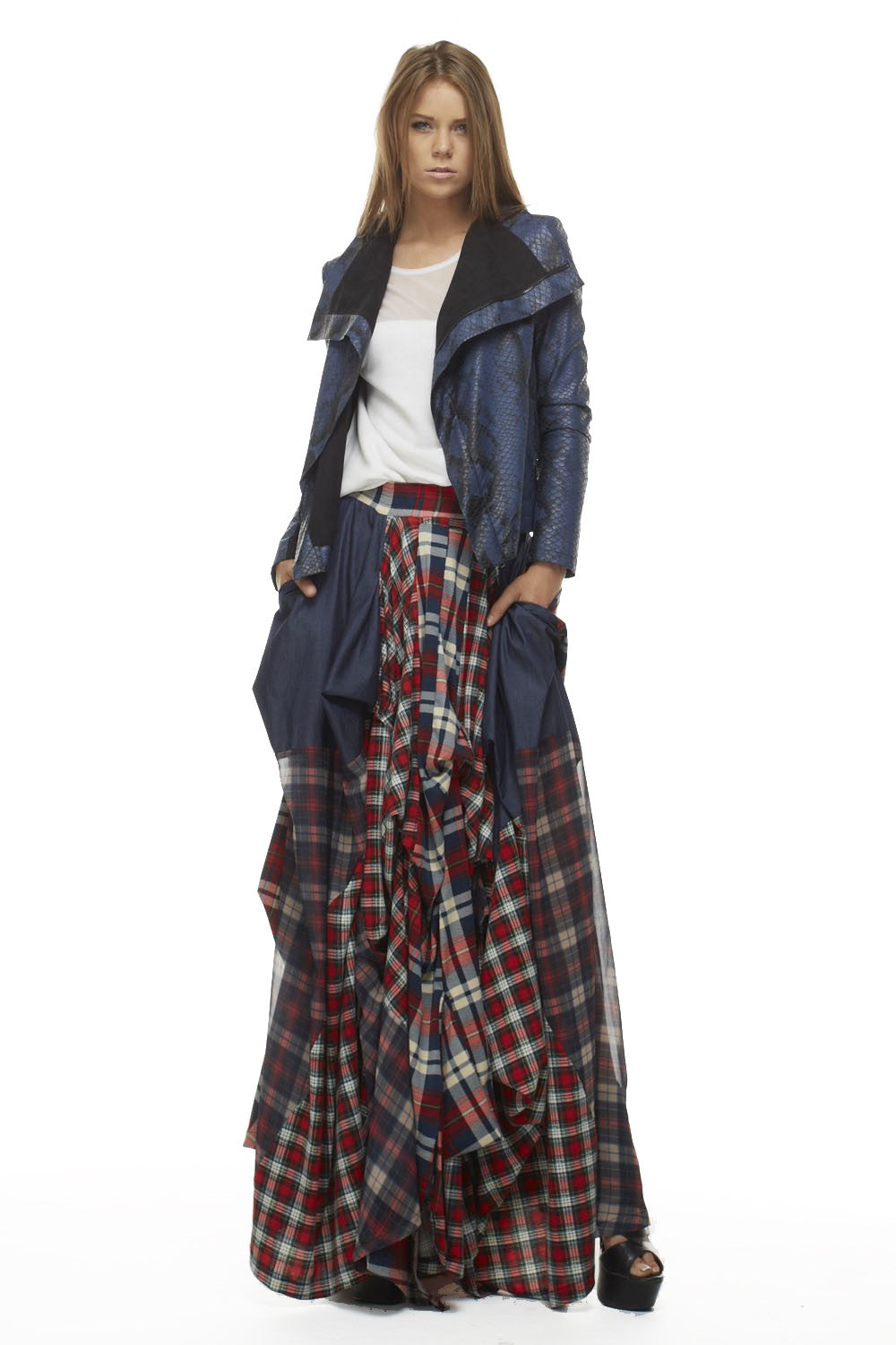 Red Tartan Damsel Delhi Skirt - Skirts - My Yuccie - 3