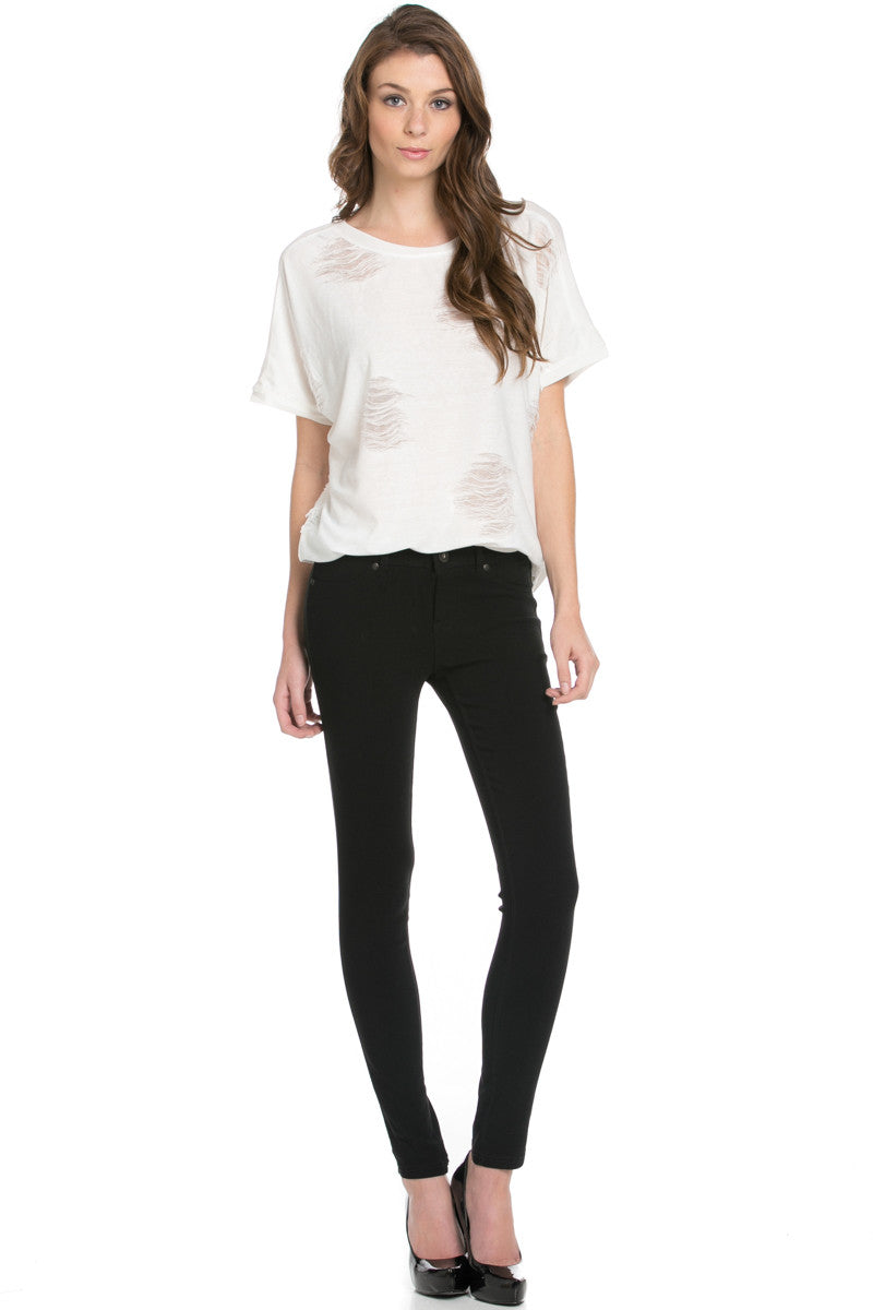 Distressed Spots Shirt White - Tops - My Yuccie - 4