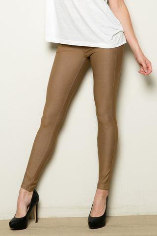 Mid-Rise Jeggings Khaki - Leggings - My Yuccie - 1