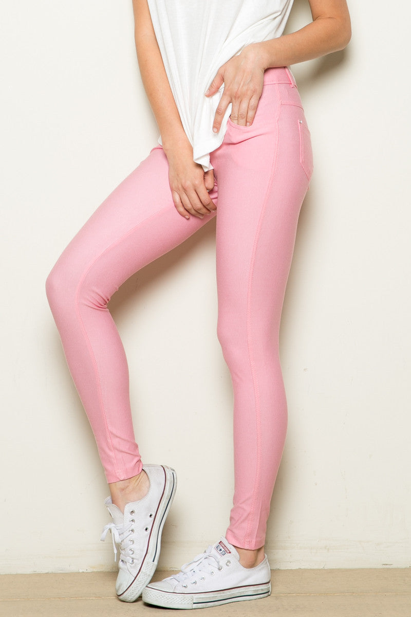 Mid-Rise Jeggings Light Pink - Leggings - My Yuccie - 2