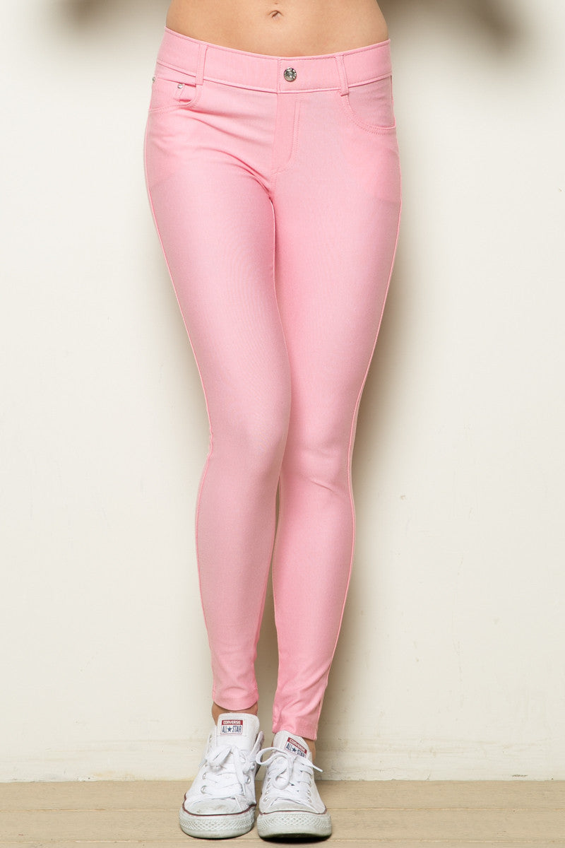 Mid-Rise Jeggings Light Pink - Leggings - My Yuccie - 5