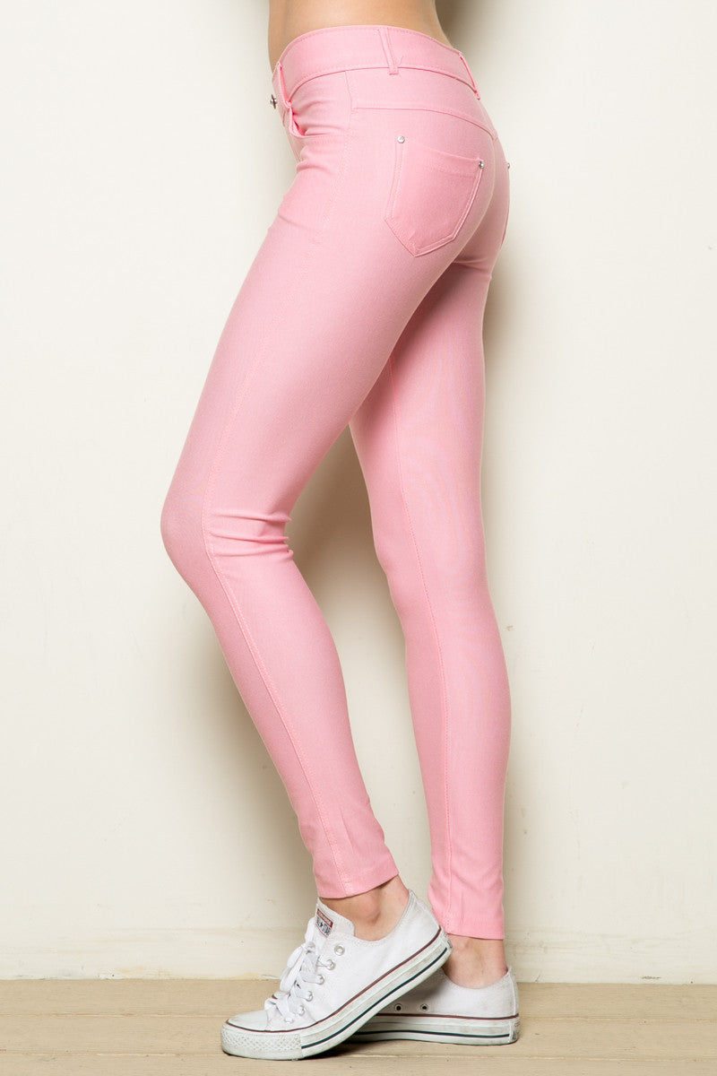 Mid-Rise Jeggings Light Pink - Leggings - My Yuccie - 6