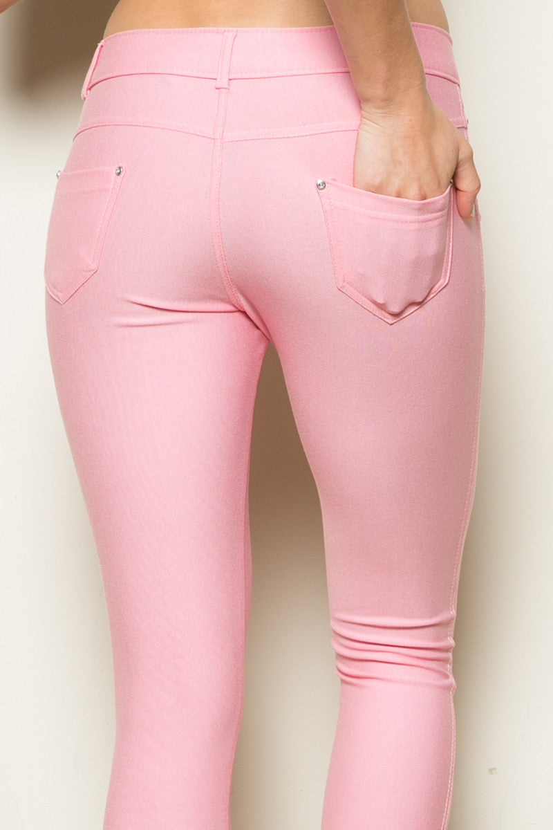 Mid-Rise Jeggings Light Pink - Leggings - My Yuccie - 9