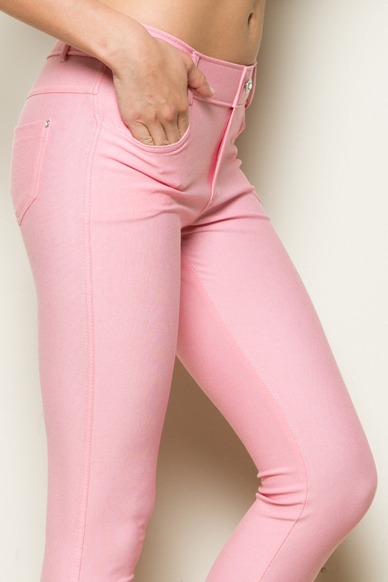 Mid-Rise Jeggings Light Pink - Leggings - My Yuccie - 8