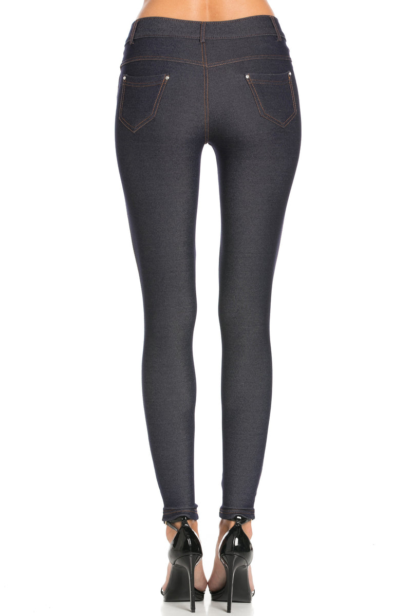 Mid-Rise Jeggings Navy - Leggings - My Yuccie - 4