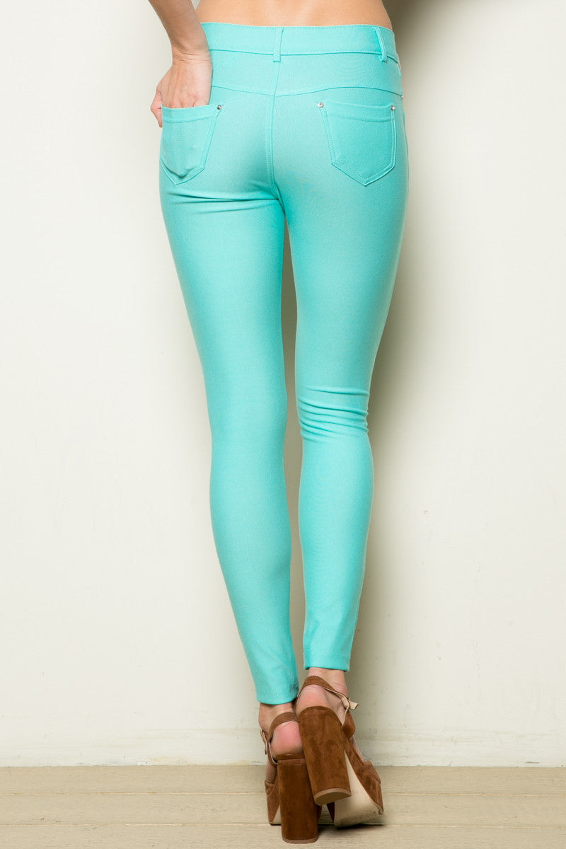 Mid-Rise Jeggings Turquoise - Leggings - My Yuccie - 6