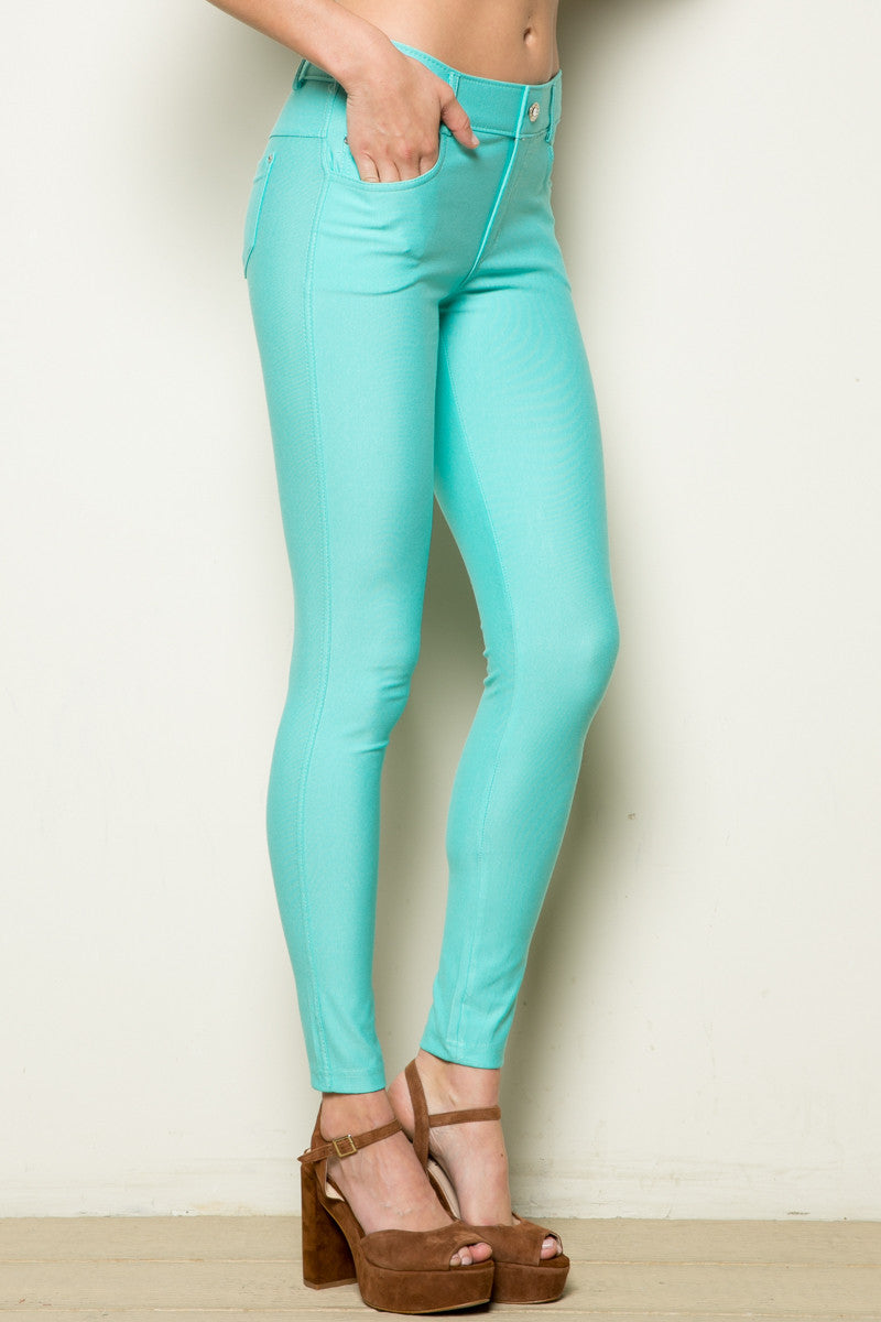 Mid-Rise Jeggings Turquoise - Leggings - My Yuccie - 7