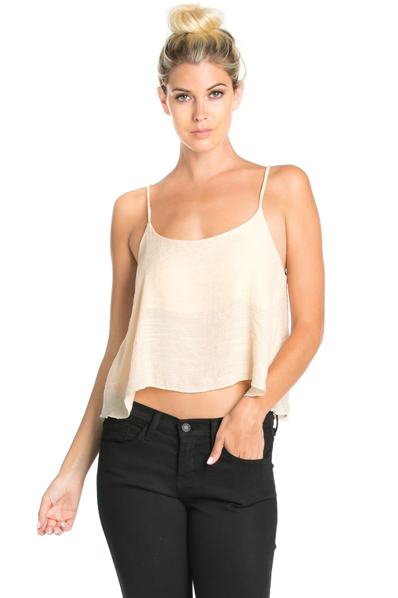Strappy Sand Crop Top - Tops - My Yuccie - 3