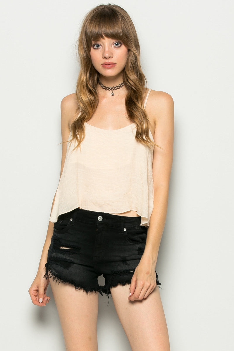 Strappy Sand Crop Top - Tops - My Yuccie - 7