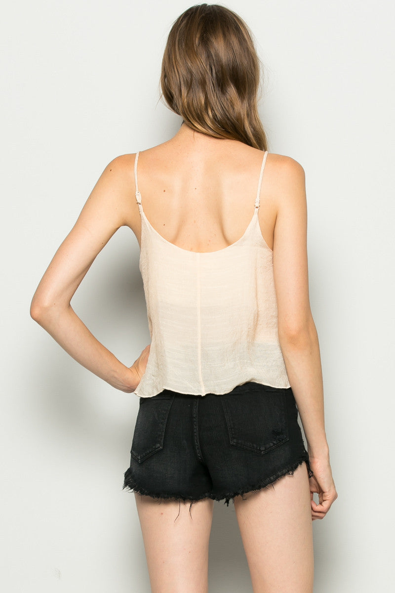 Strappy Sand Crop Top - Tops - My Yuccie - 10