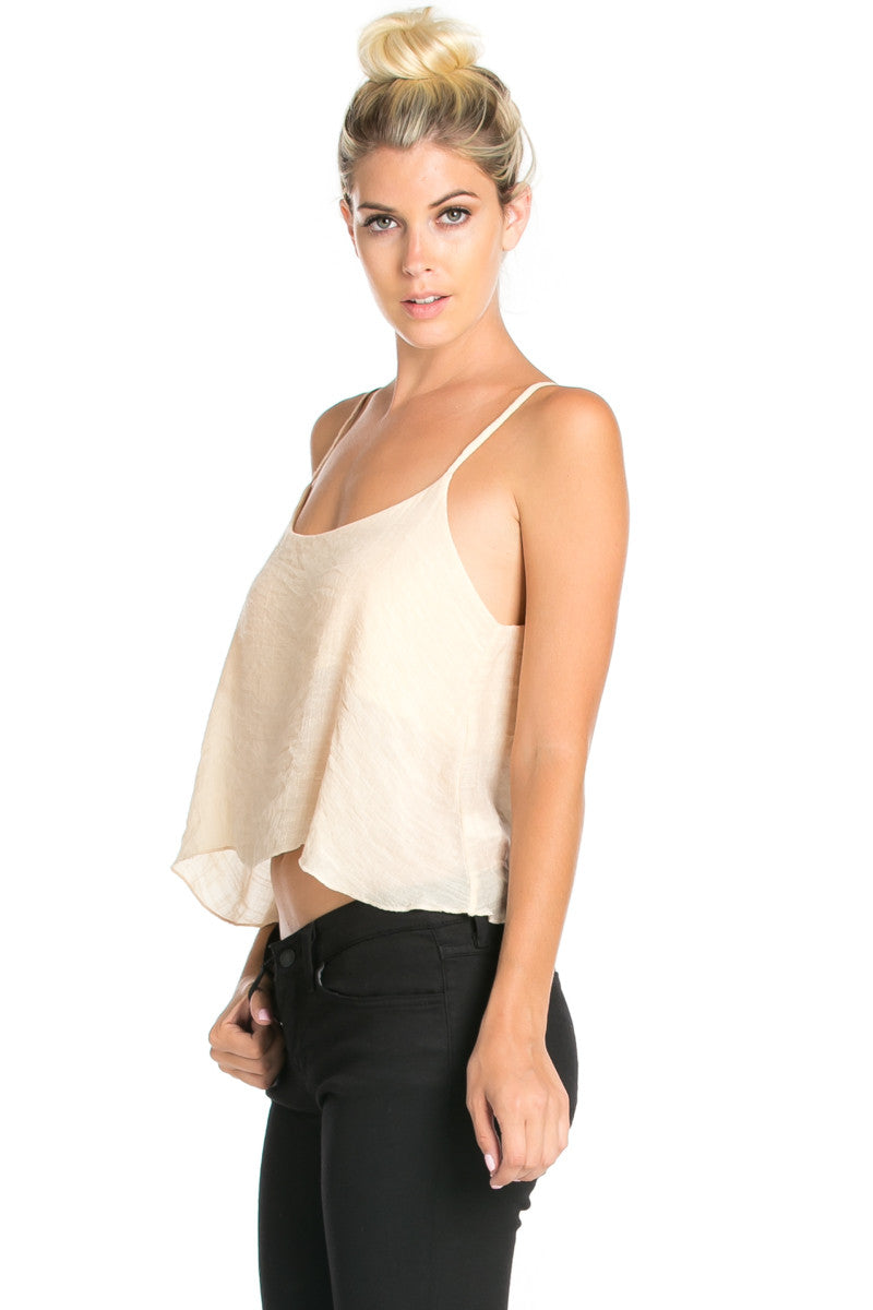 Strappy Sand Crop Top - Tops - My Yuccie - 5