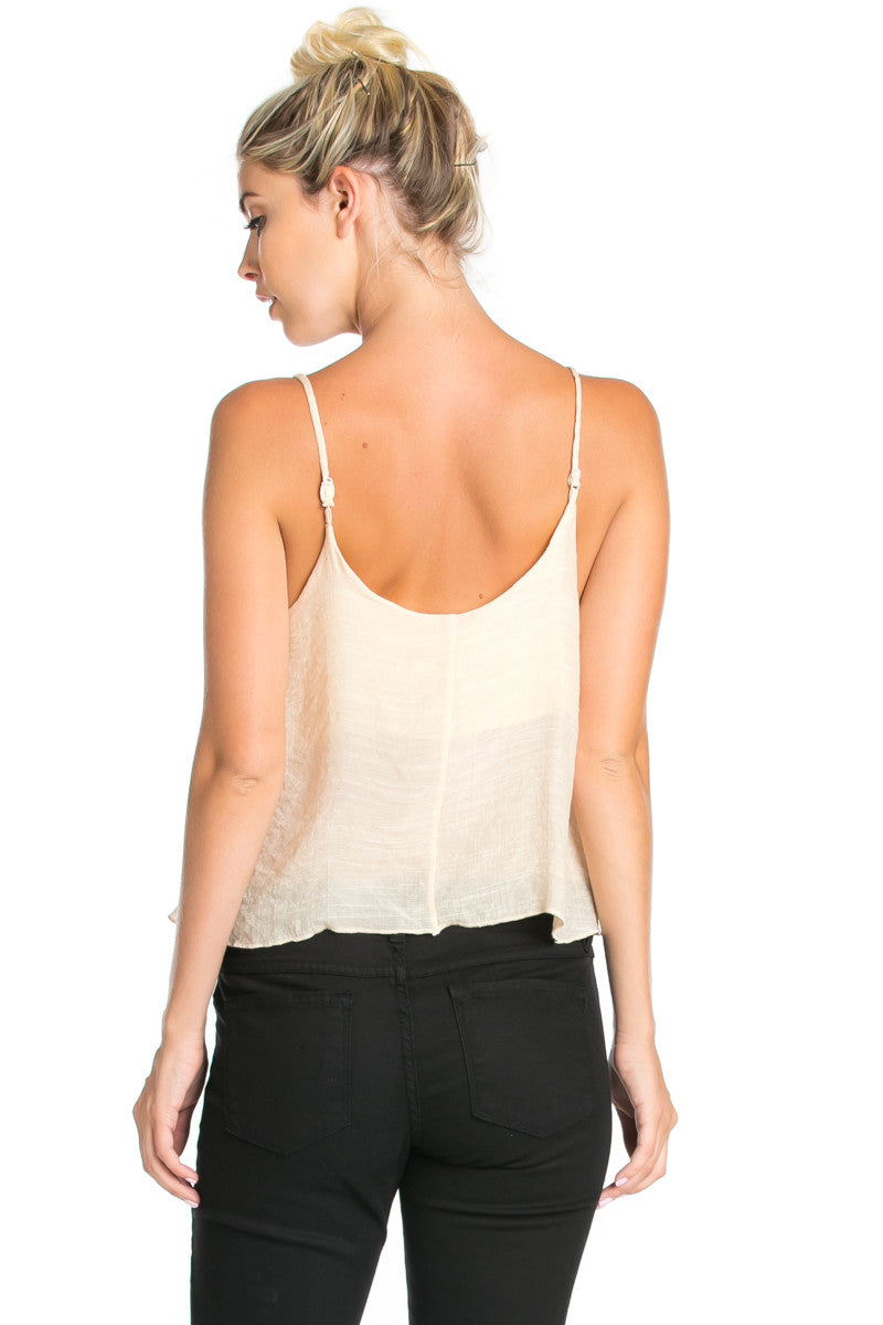 Strappy Sand Crop Top - Tops - My Yuccie - 6