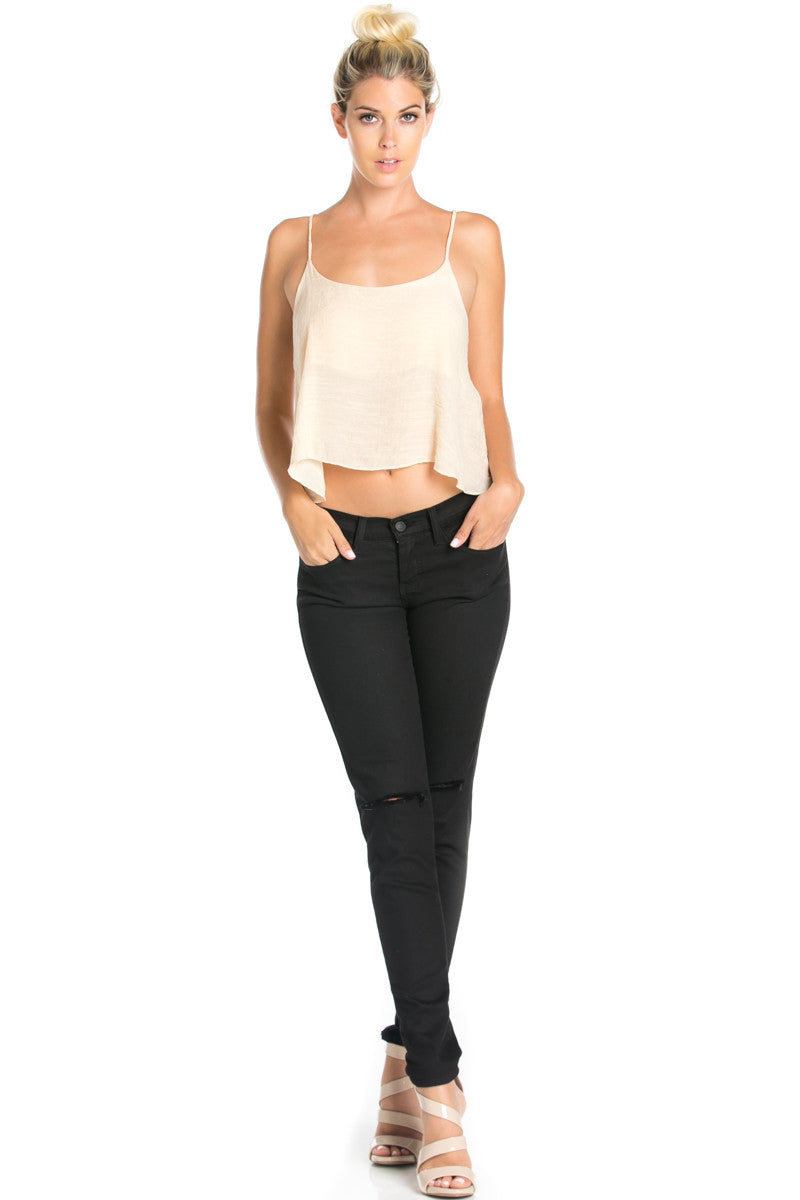 Strappy Sand Crop Top - Tops - My Yuccie - 2