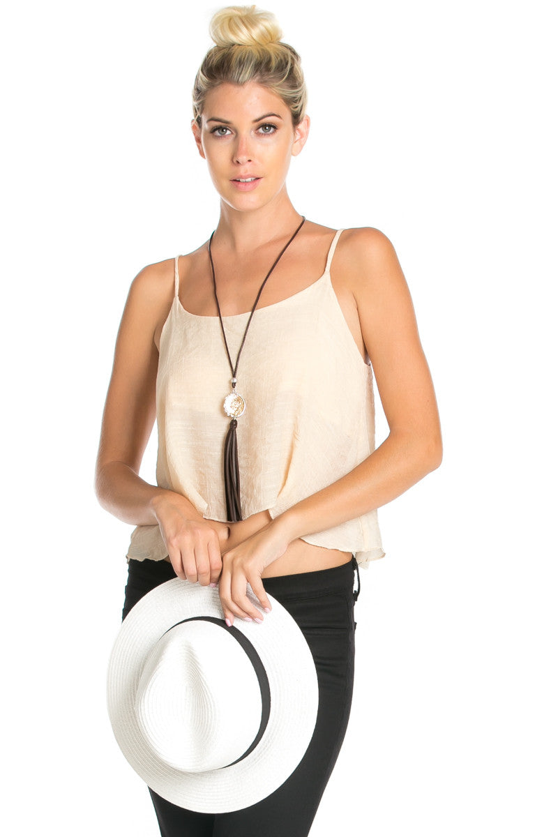 Strappy Sand Crop Top - Tops - My Yuccie - 4