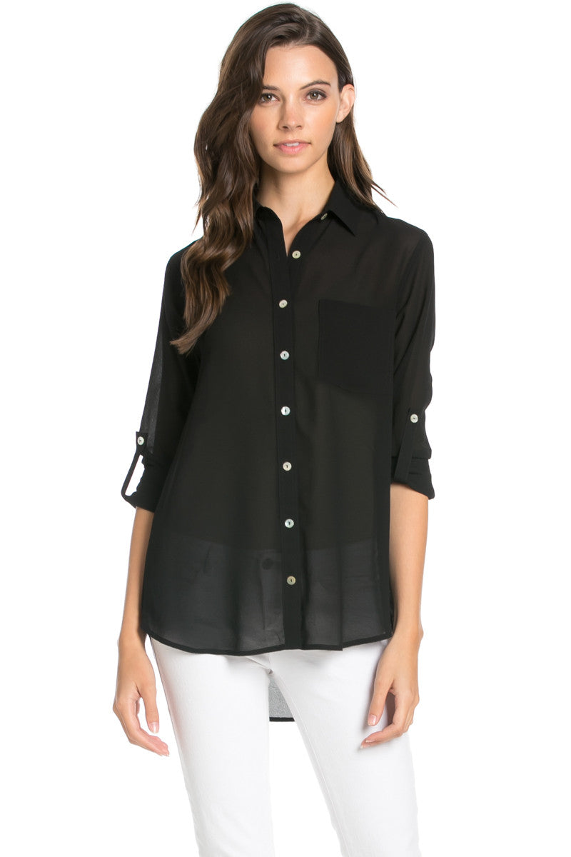 Find button down chiffon blouse at ShopStyle. Shop the latest collection of button down chiffon blouse from the most popular stores - all in one.