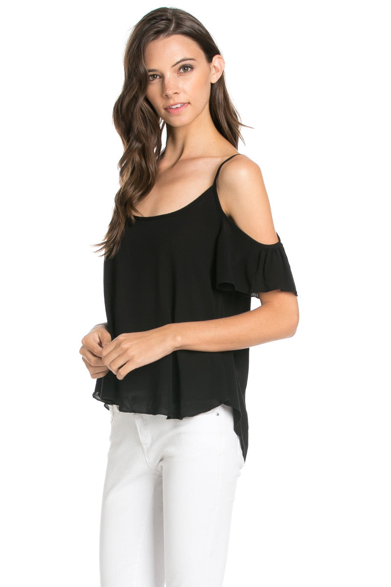 Flowy Pink Cold Shoulder Top - Shirts - My Yuccie - 7