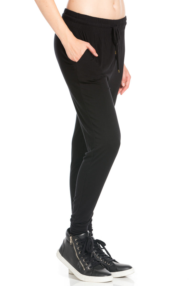 Comfy Drawstring Jogger Pants in Black - Jogger Pants - My Yuccie - 12