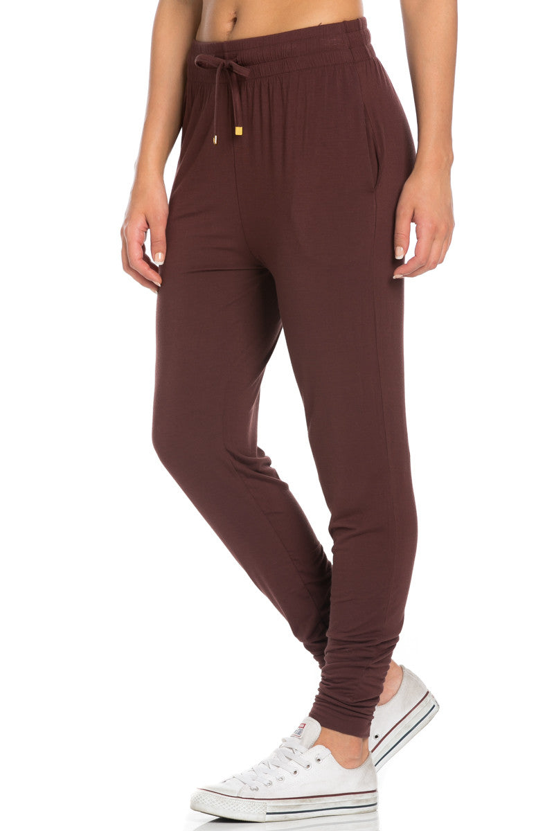 Comfy Drawstring Jogger Pants in Brown - Jogger Pants - My Yuccie - 2