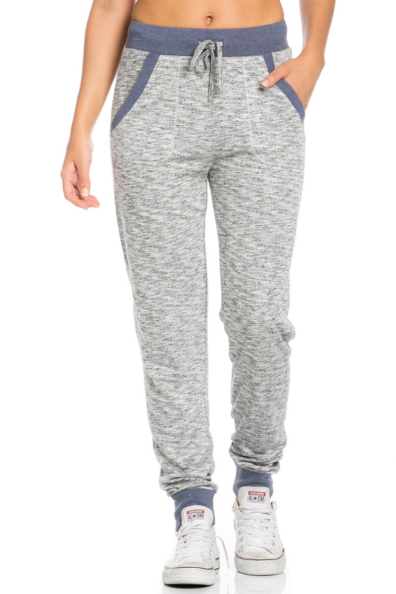 Heather Grey Banded Speckled Jogger Pants - Jogger Pants - My Yuccie - 7