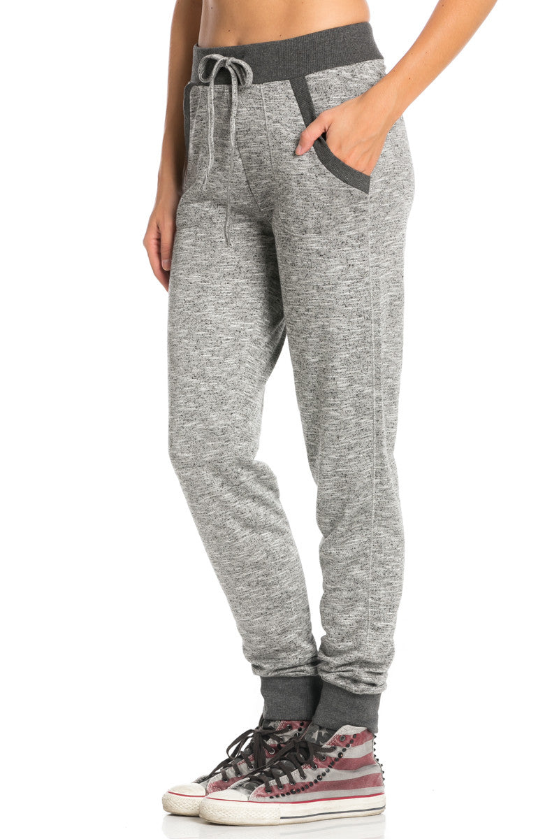 Dark Charcoal Banded Speckled Jogger Pants - Jogger Pants - My Yuccie - 2