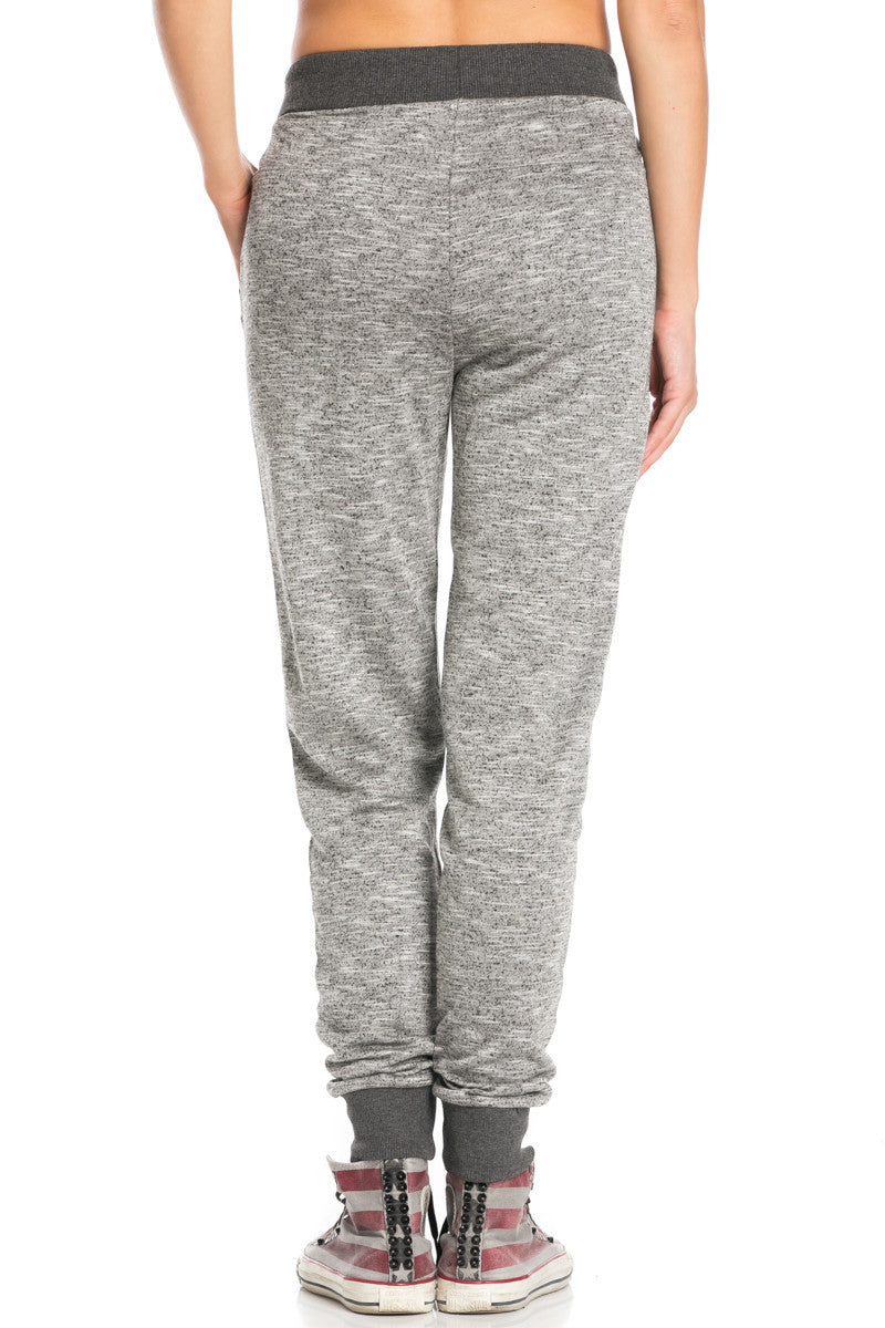 Dark Charcoal Banded Speckled Jogger Pants - Jogger Pants - My Yuccie - 4