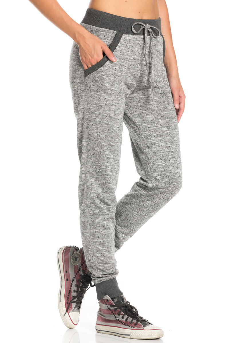 Dark Charcoal Banded Speckled Jogger Pants - Jogger Pants - My Yuccie - 5