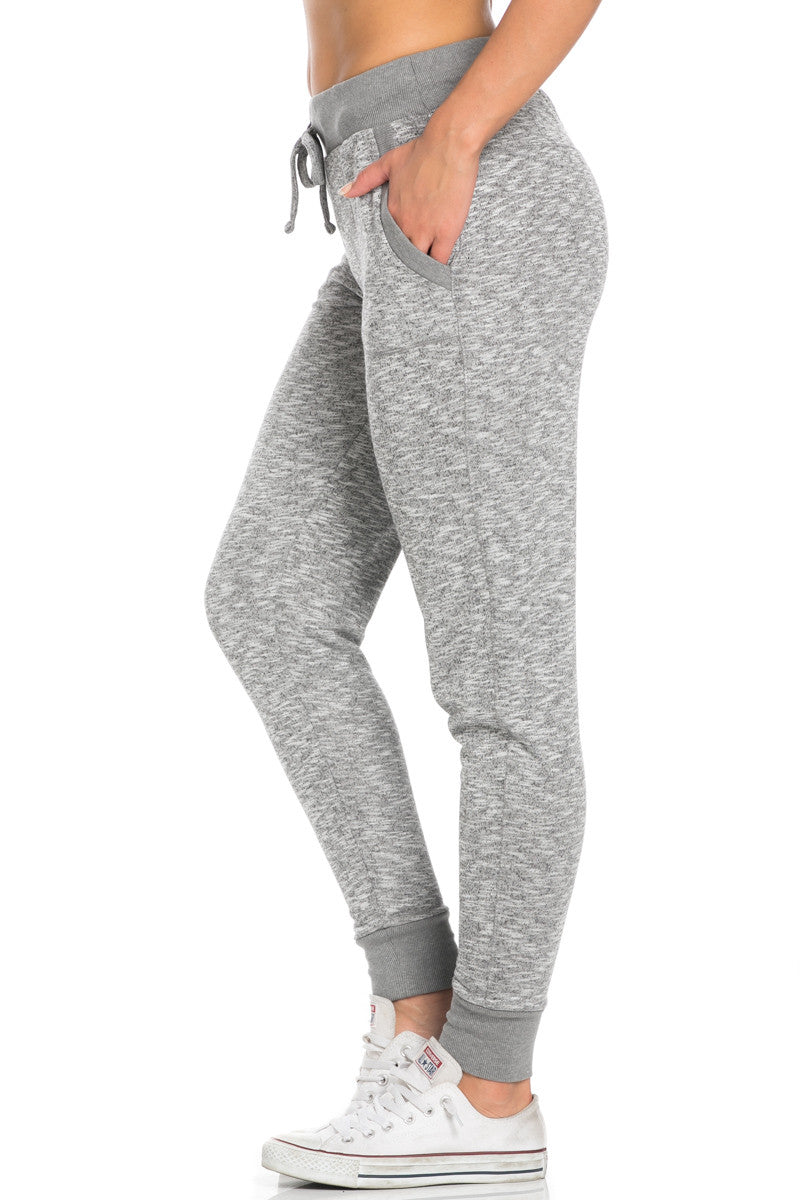 Heather Grey Banded Speckled Jogger Pants - Jogger Pants - My Yuccie - 3