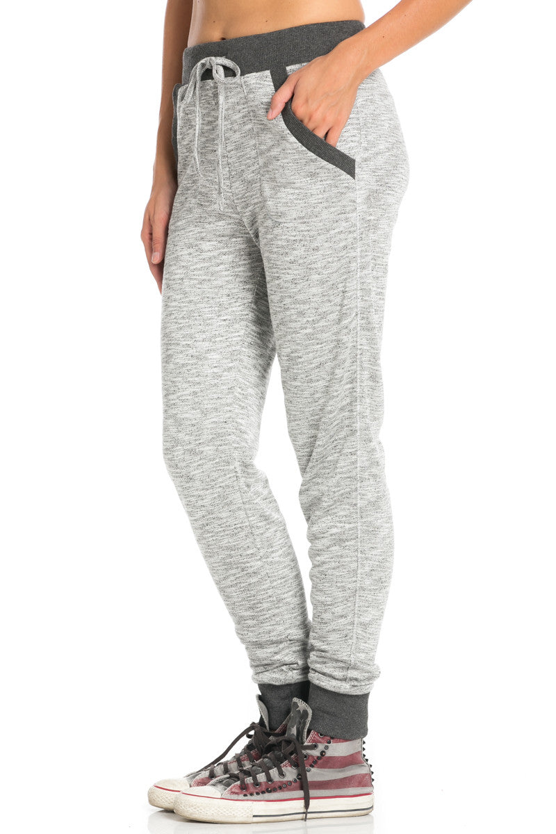 Charcoal Banded Grey Speckled Jogger Pants - Jogger Pants - My Yuccie - 2