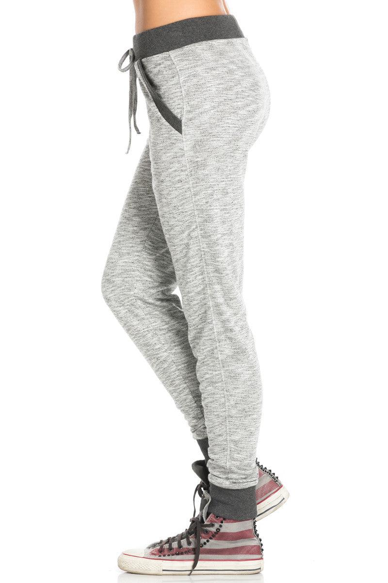 Charcoal Banded Grey Speckled Jogger Pants - Jogger Pants - My Yuccie - 3