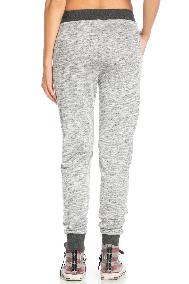 Charcoal Banded Grey Speckled Jogger Pants - Jogger Pants - My Yuccie - 4