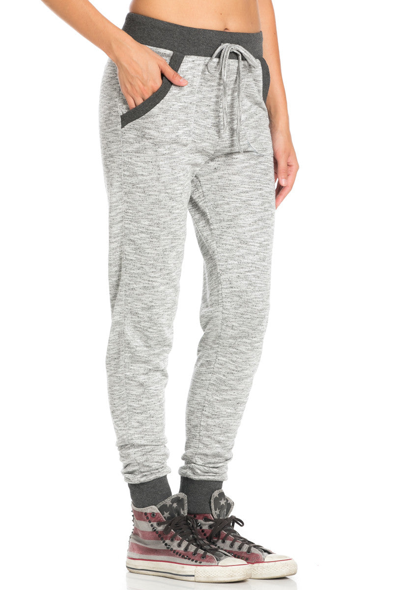 Charcoal Banded Grey Speckled Jogger Pants - Jogger Pants - My Yuccie - 5