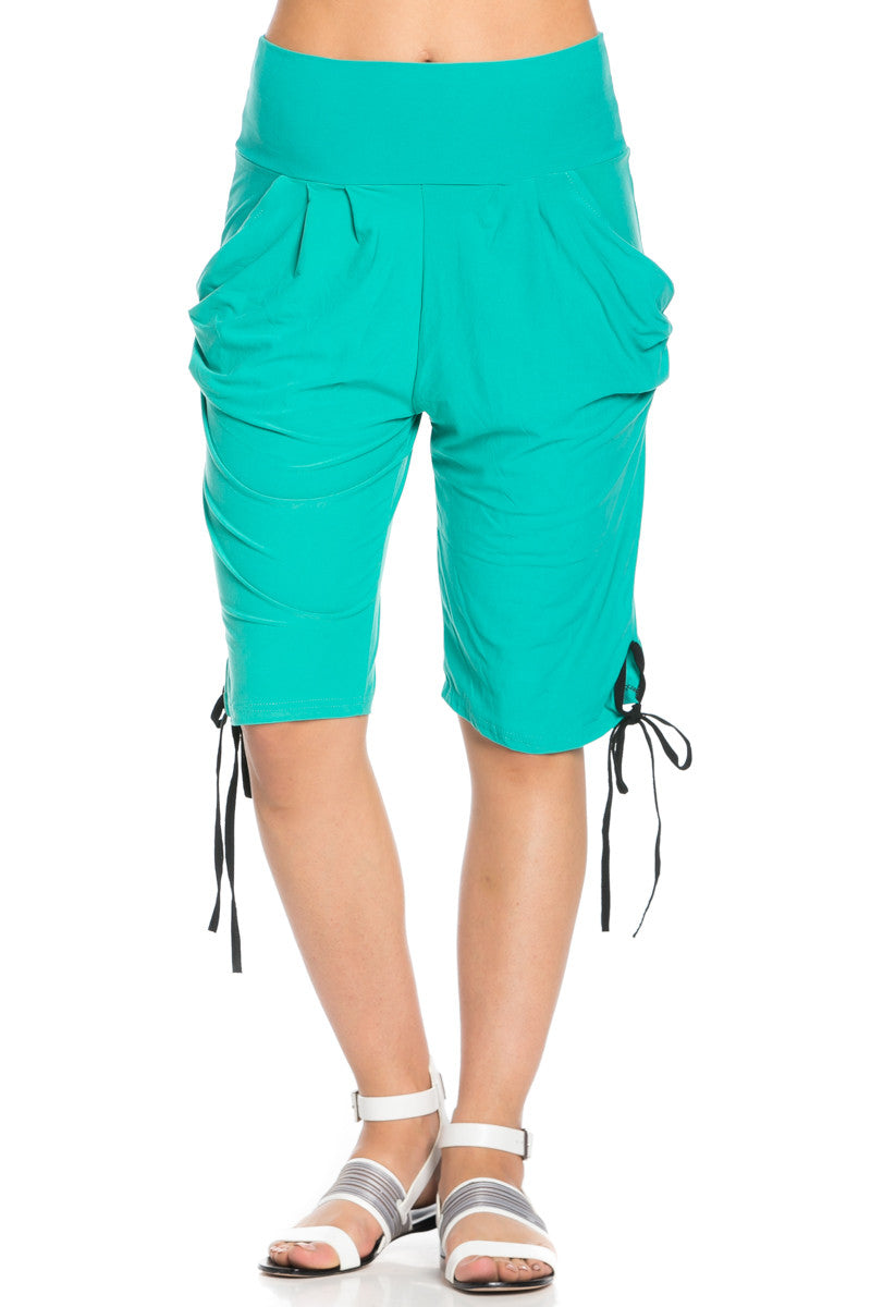 Capri Harem Pants in Mint - Shorts - My Yuccie - 4