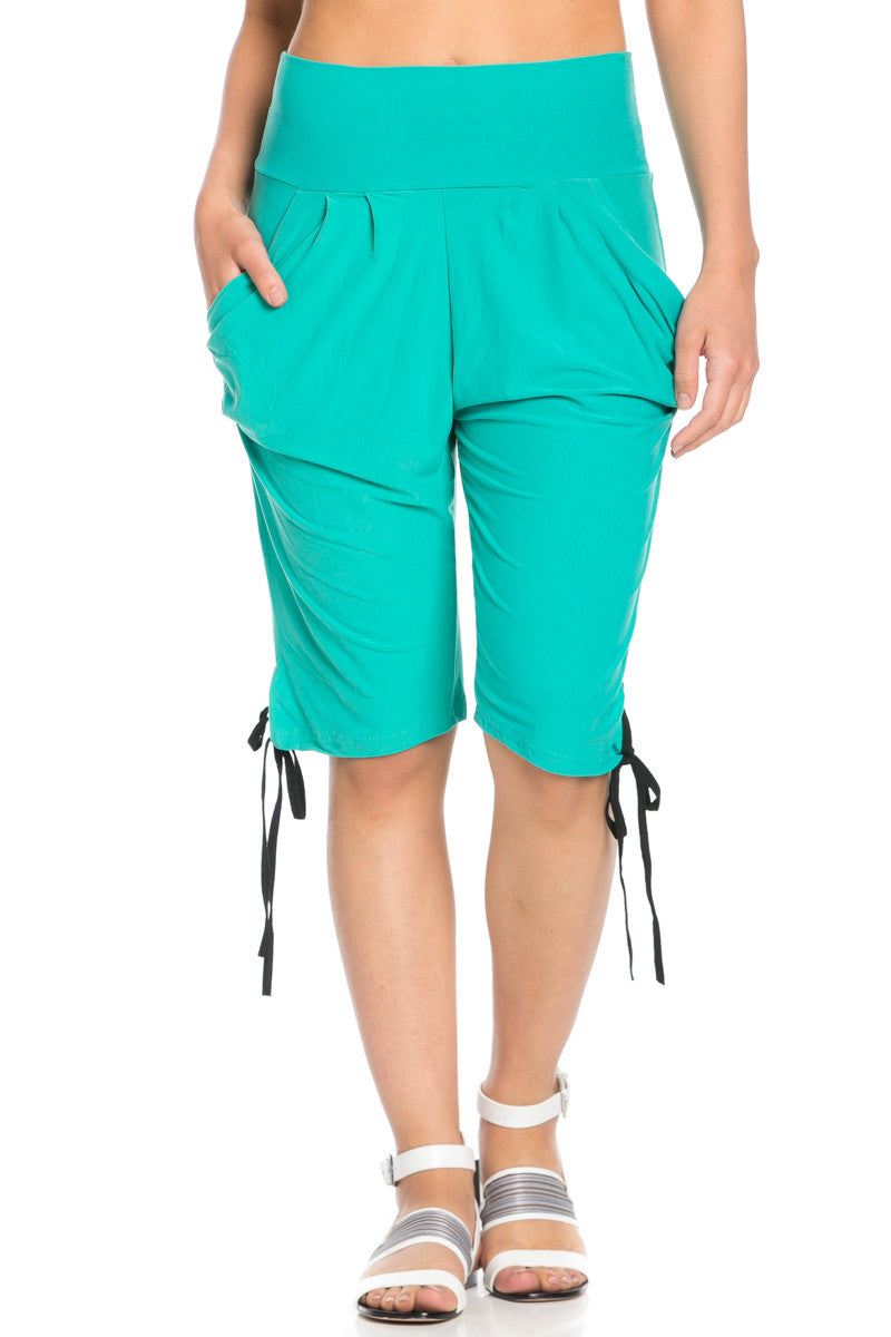 Capri Harem Pants in Mint - Shorts - My Yuccie - 1