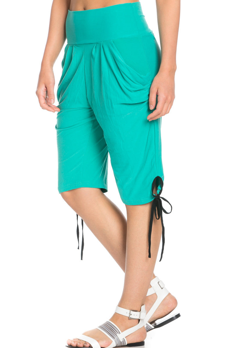 Capri Harem Pants in Mint - Shorts - My Yuccie - 5
