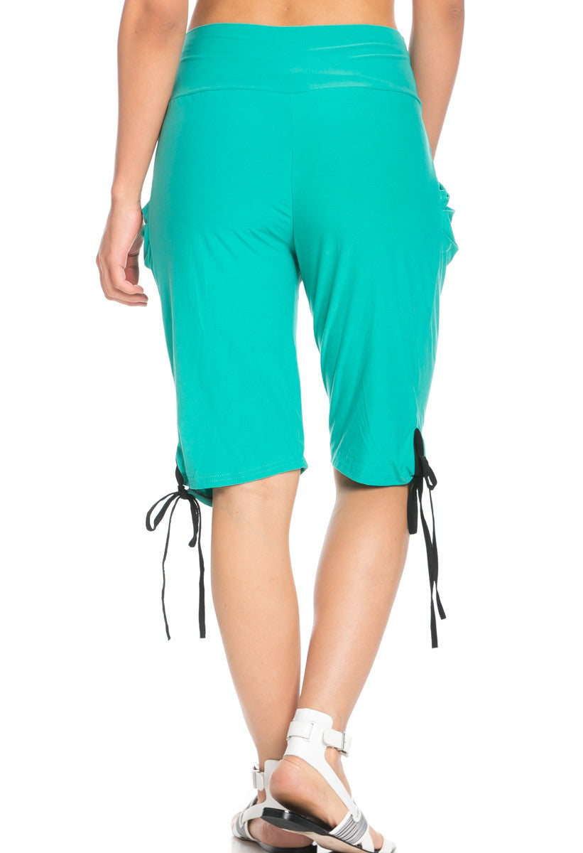 Capri Harem Pants in Mint - Shorts - My Yuccie - 6